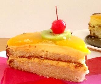 Торт «Бисквитный с фруктами» 1