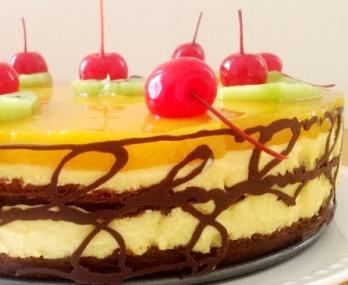 Торт «Бисквитный с фруктами» 2