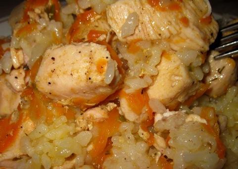 Рис с курицей по быстрому