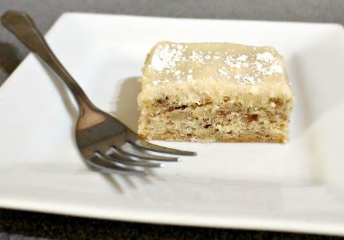 Банановый торт с глазурью из сливочного сыра - быстрый и простой рецепт