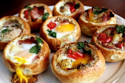Булочки фаршированные с яйцом и разными начинками - быстрая вкуснятина
