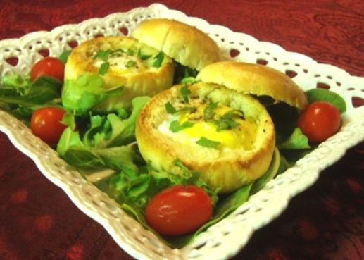 Булочки  фаршированные яйцом и разными начинками - быстрая вкуснятина