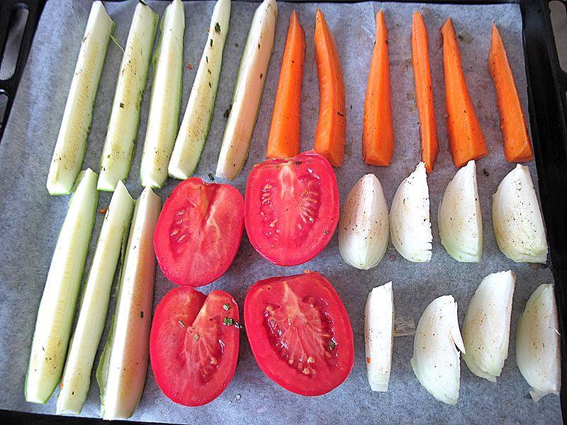 Овощи, запеченные в духовке - здоровая еда без труда