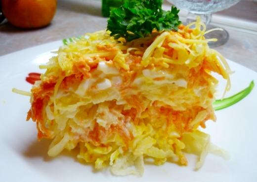 Французский салат по-быстрому