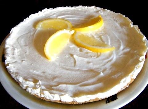 Быстрый торт без выпечки Лимонный
