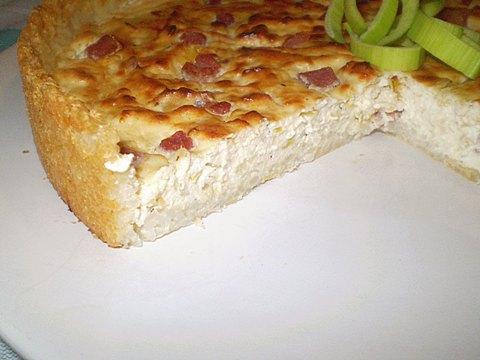Итальянский рисовый пирог с начинкой из творога и бекона - оригинальный вкус, простой рецепт