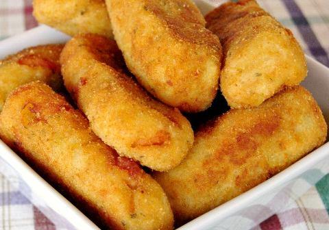 Картофельные палочки с копченым лососем. Оригинально, вкусно и очень просто