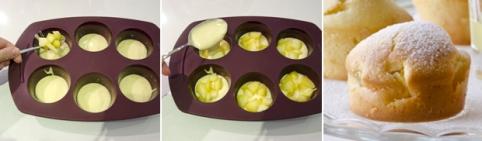 """Кексы """"Летние"""" с яблоками по-быстрому на кефире"""