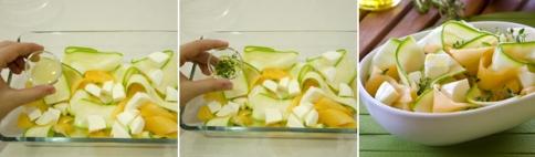 Легкий салат из кабачка и дыни - пикантный вкус, летний аромат, минимум калорий