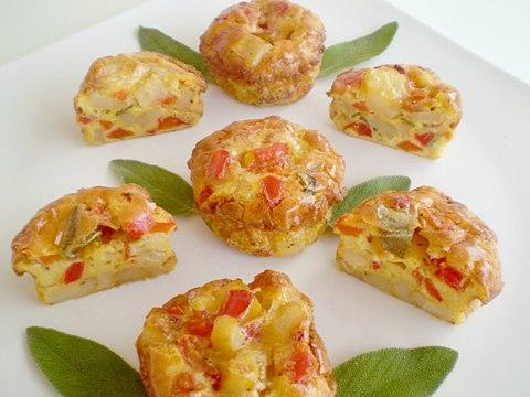Овощные кексы - оригинальная, красивая и вкусная закуска по-быстрому